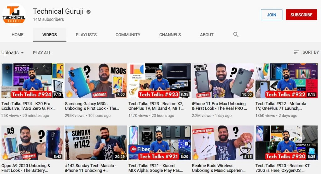 youtube channel of technical guruji