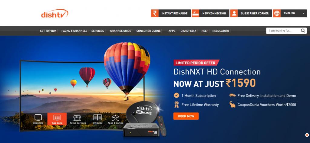 dish tv online portal: Best DTH Service