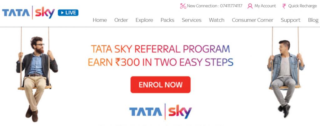 tata sky online web portal: Best DTH Service