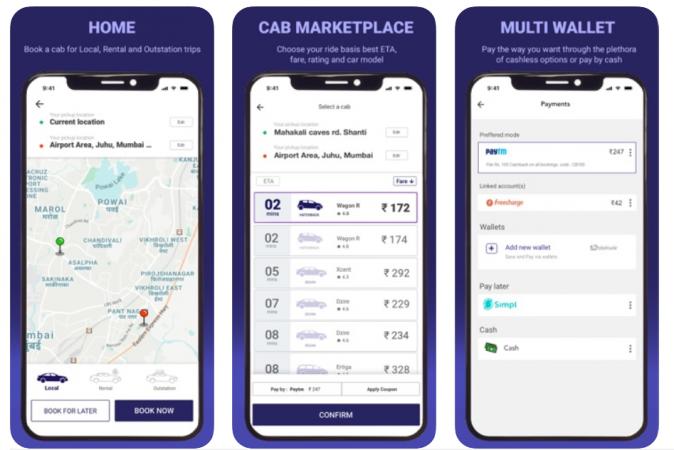 Meru Cabs App