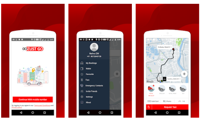 Zust Go cab booking app