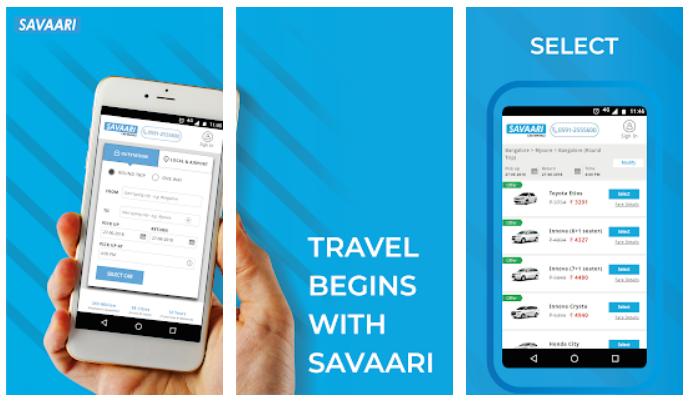 savaari cab booking app