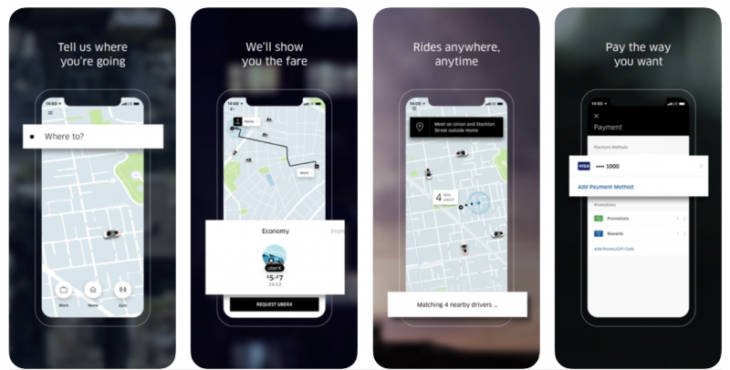 uber cab booking app