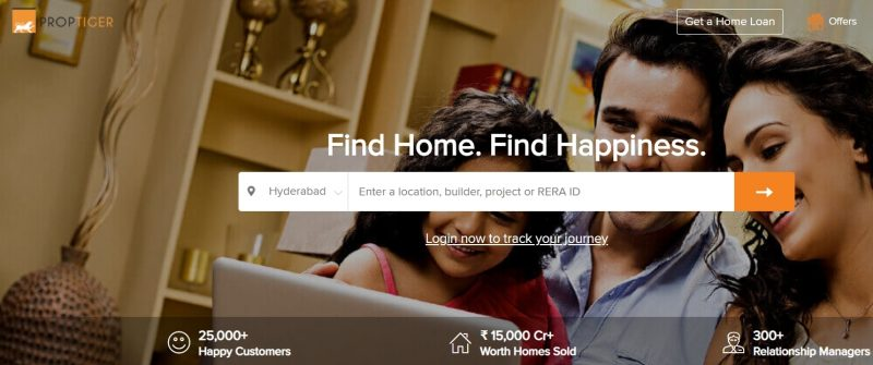 PropTiger property search site in india