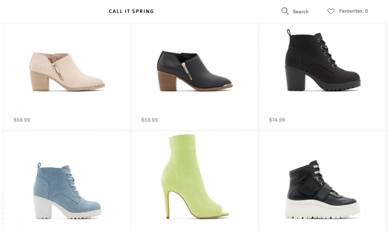 Call It Spring shoe brand for women