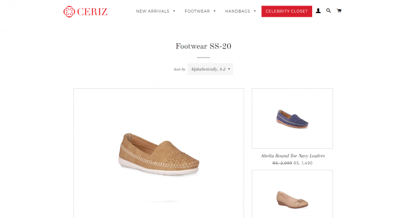 Ceriz shoe brand for women