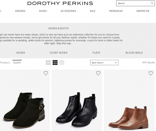 Dorothy Perkins best girl shoe brand