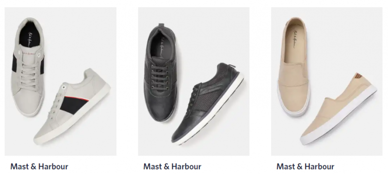 Mast & Harbour men shoe brand in india