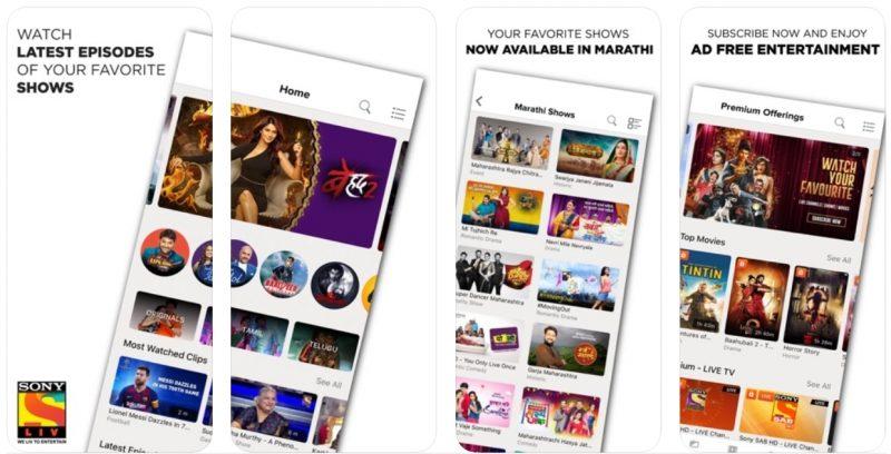 Sony LIV app
