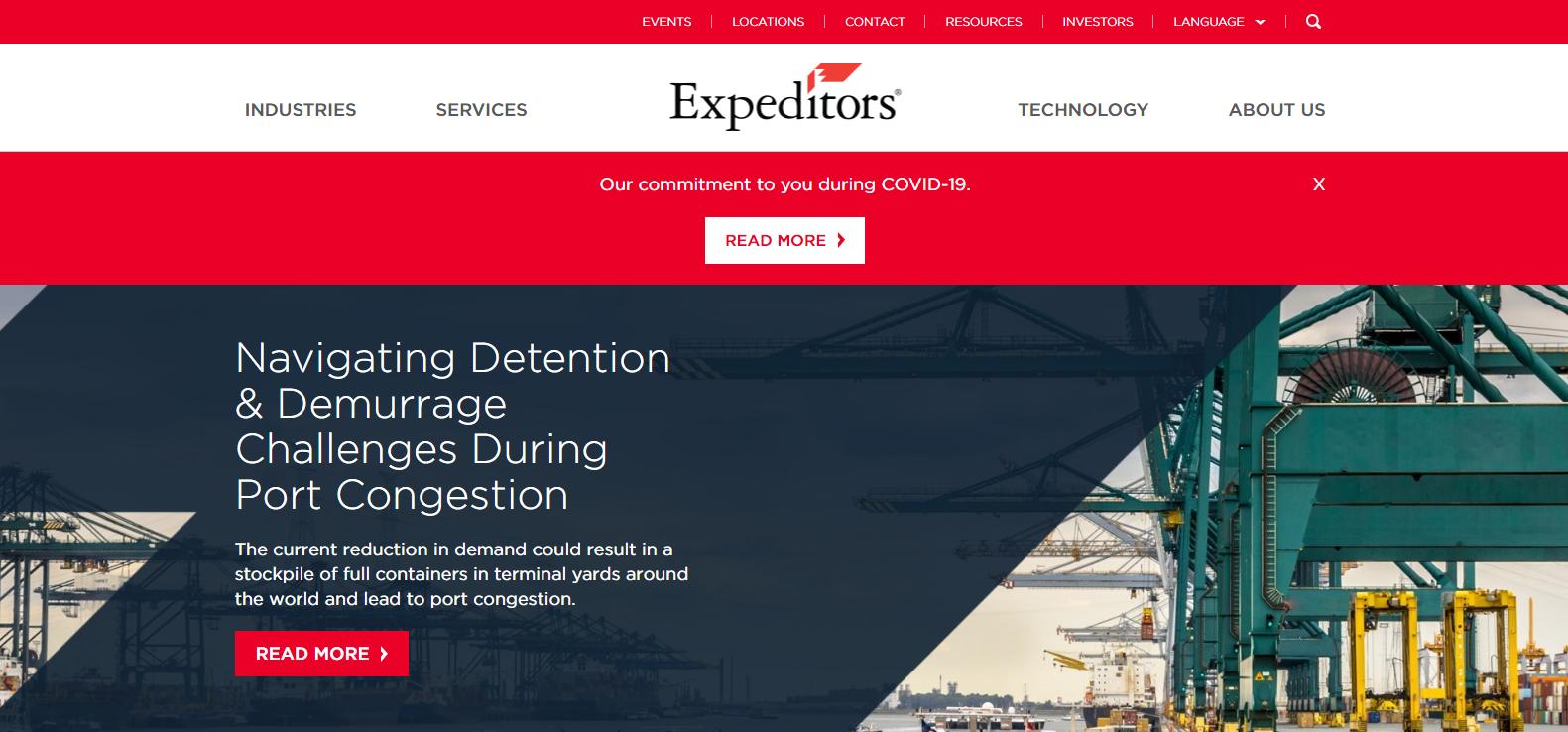 Expeditors International of Washington Best Logistics Company