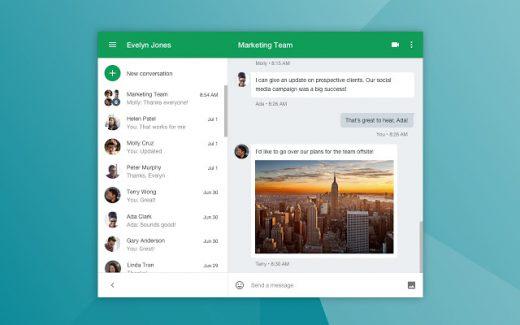 Google Hangouts: online video chat