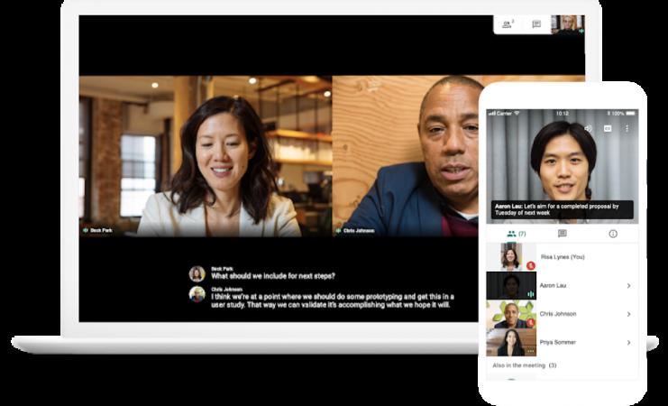 Google Meet: online video chat
