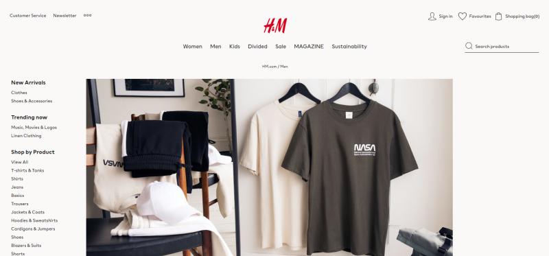 H&M.com: Online Clothing Store