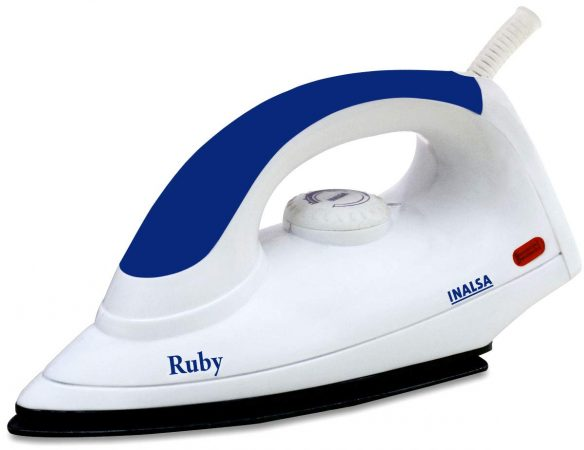 Inalsa Ruby 1000-Watt Dry Iron with Non-Stick Coated Soleplate Best Iron In India