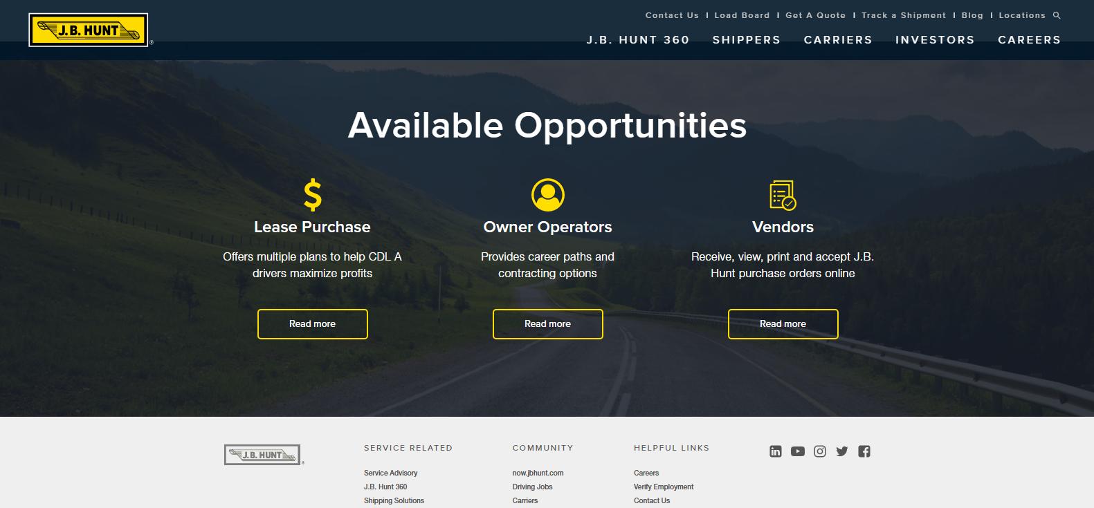 J.B. Hunt Transport Services Best Logistics Company