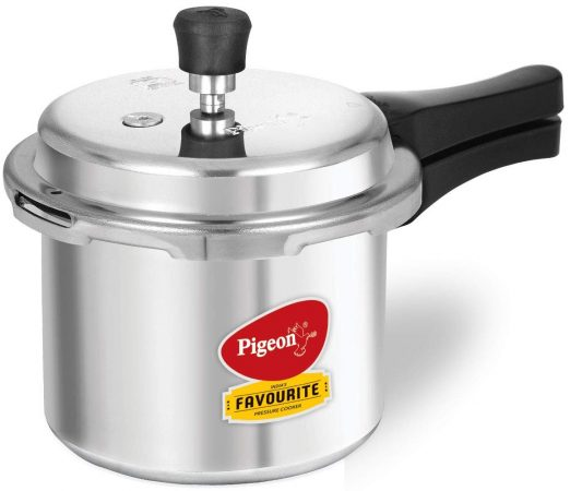 Pigeon Favourite Outer Lid Non-Induction Aluminium Pressure Cooker Best Rice Cooker In India
