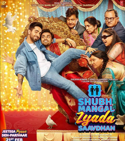 Shubh Mangal Zyada Savdhan (imdb- 6.6) Hindi Romantic Movie
