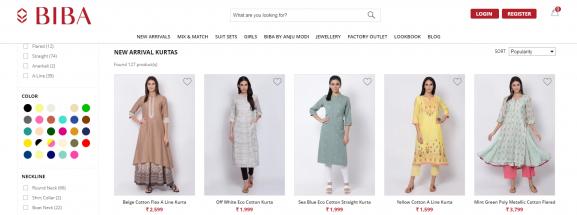 Biba: Online Site To Buy Kurtis