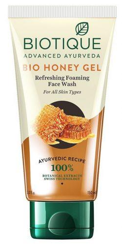 Biotique Bio Honey Gel Refreshing Foaming Face Wash: Best Face Wash In India