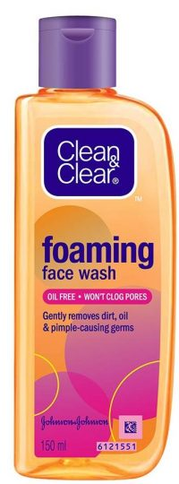 Clean & Clear Foaming Face Wash: Best Face Wash In India