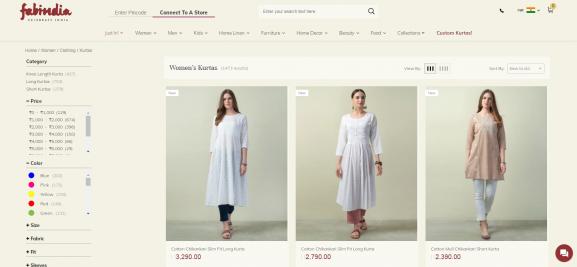 Fab India: Online Site To Buy Kurtis