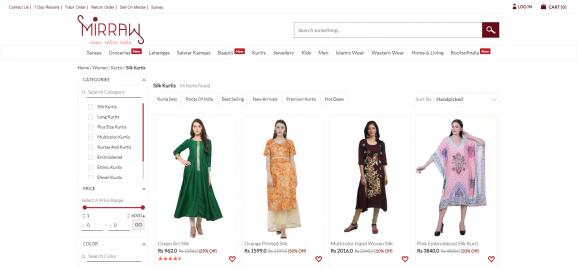 Mirraw: Online Site To Buy Kurtis