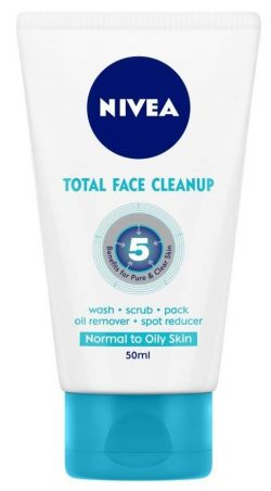Nivea Total Face Clean Up: Best Face Wash In India