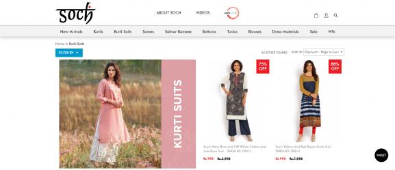 Soch: Online Site To Buy Kurtis