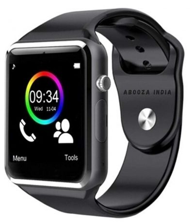 Abooza A1 Smartwatch with Bluetooth Calling with capacitive Touch Screen with Kaju Mini Portable Earphone Headset: Best Smart Watch To Buy Under Rs 2000