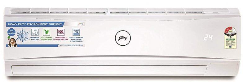 Godrej 1.5 Ton 3 Star Split AC (Copper GSC 18KTC3-WSA White): Air Conditioner Under 30,000