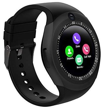JOKIN Y1S Smart Watch, Bluetooth Smartwatch Touch Screen Smart Phone Watch Android Smartwatch with Camera SIM Card Slot Sports Mens Wrist Watch for Android Phones - Black: Best Smart Watch To Buy Under Rs 2000