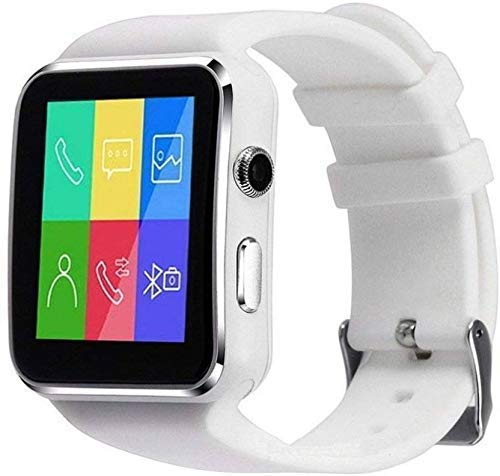 Reepud X6 Smart Watch with Two Colour Bluetooth Smartwatch for Man, Woman, Boys, Girls and Compatible with All Mobile Phones - White: Best Smart Watch To Buy Under Rs 2000