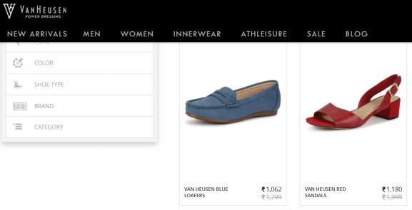 Van Heusen - women footwear brands