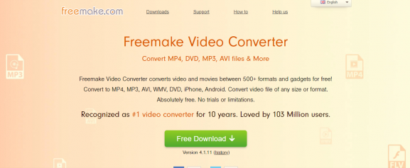 freemake - tool for video to mp3