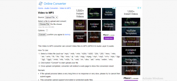 onlineconverter - tool for converting video to mp3