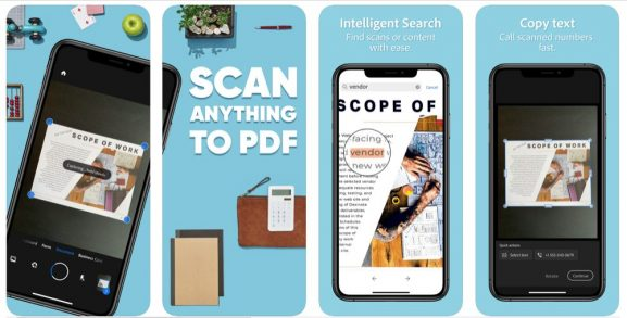 Adobe Scanner: Alternative to CamScanner