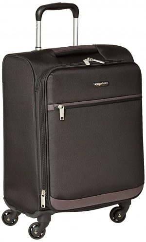 AmazonBasics 53 cm Black Softsided Cabin Trolley: Best Suitcases, Trolley Bags And Luggage To buy In India