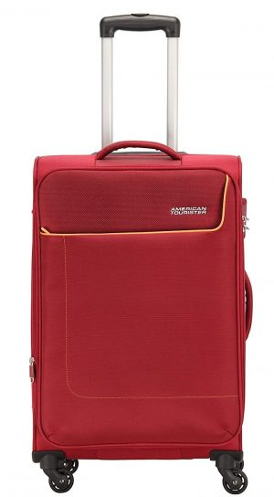 American Tourister Jamaica Polyester 80 cms Wine Red Softsided Suitcase (27O (0) 70 003): Best Suitcases, Trolley Bags And Luggage To buy In India