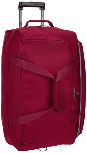 Skybags Cardiff Polyester 63.5 cms Red Travel Duffle (DFTCAR62ERED): Best Suitcases, Trolley Bags And Luggage To buy In India