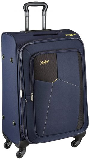 Skybags Rubik Polyester 58 Cms Blue Softsided Cabin Luggage (STRUW58EBLU): Best Suitcases, Trolley Bags And Luggage To buy In India