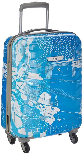 Skybags Trooper 55 Cms Polycarbonate Blue Hardsided Cabin Luggage: Best Suitcases, Trolley Bags And Luggage To buy In India