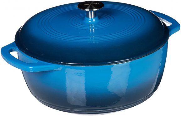 AmazonBasics Enameled Heavy Duty Cast Iron 4.1 Liters Dutch Oven: Best Dutch Oven