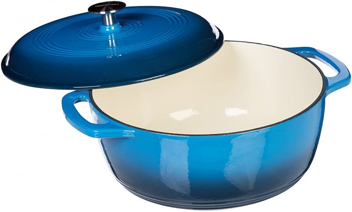 AmazonBasics Enameled Heavy Duty Cast Iron 5.7 Litres Dutch Oven: Best Dutch Oven