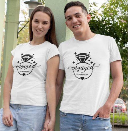Be Awara Engaged Personalized Couple T-shirts: Best Couple Tshirts