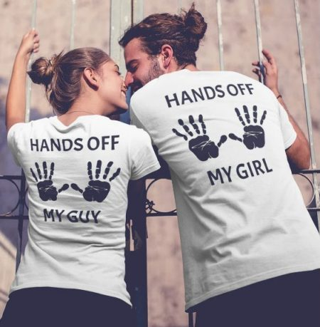 Be Awara Hands off Couple's T-shirt: Best Couple Tshirts