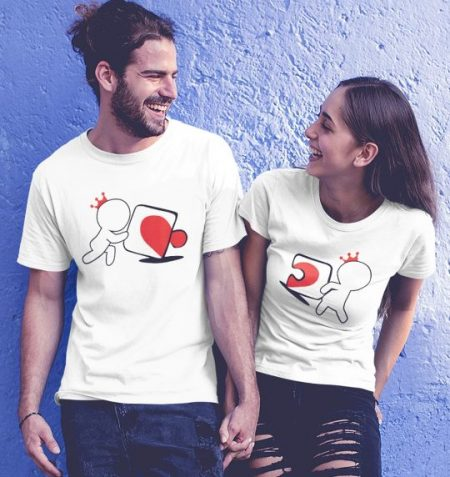 Be Awara Jigsaw Love Couple T-shirts: Best Couple Tshirts