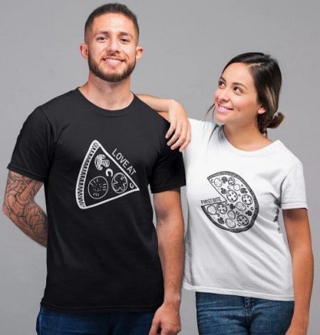 Be Awara Love At First Bite Couple T-shirts: Best Couple Tshirts