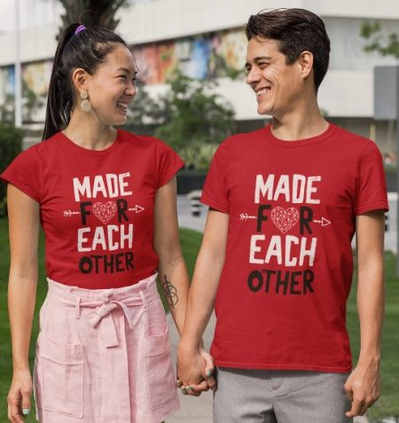 Be Awara Made For Each Other Couple T-shirts: Best Couple Tshirts