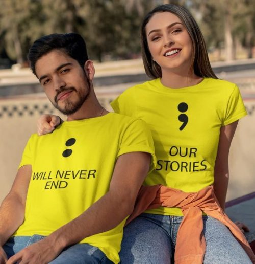 Be Awara Our Storied Couple T-shirts: Best Couple Tshirts