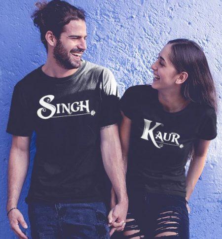Be Awara Singh Kaur Couple T-shirts: Best Couple Tshirts